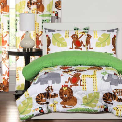 Crayola Jungle Love Comforter Set Size: Full