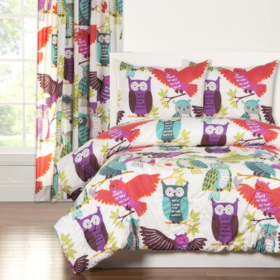 Crayola Owl Always Love You Comforter Set Size: Full/Queen