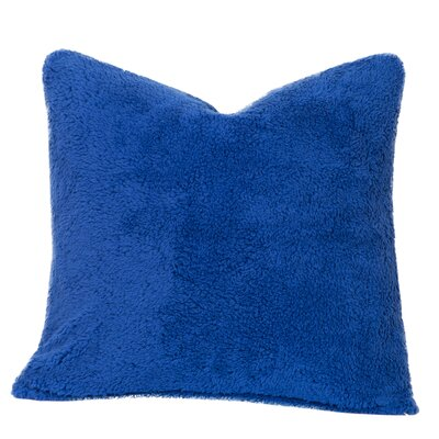 Throw Pillow Size: 16 H x 16 W x 6 D, Color: Berry Blue