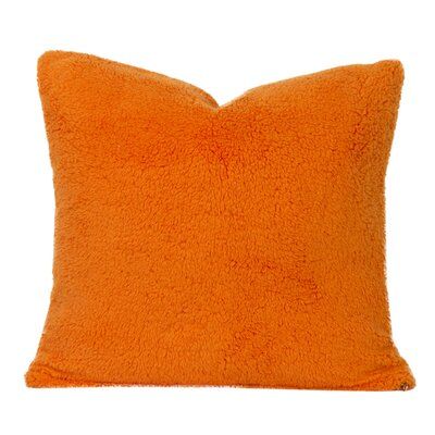 Throw Pillow Size: 26 H x 26 W x 6 D, Color: Outrageous Orange