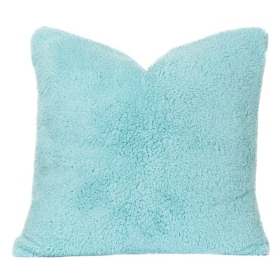 Throw Pillow Size: 20 H x 20 W x 6 D, Color: Robins Egg Blue