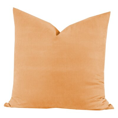 Throw Pillow Size: 16 H x 16 W x 6 D, Color: Melon