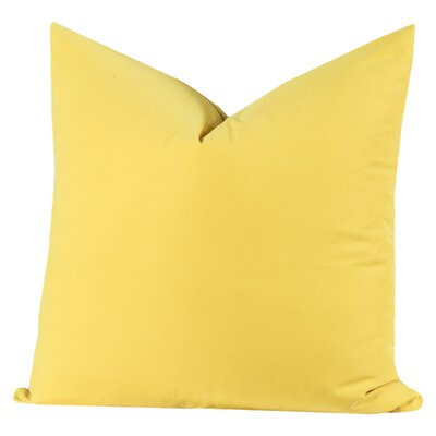 Throw Pillow Size: 26 H x 26 W x 6 D, Color: Laser Lemon