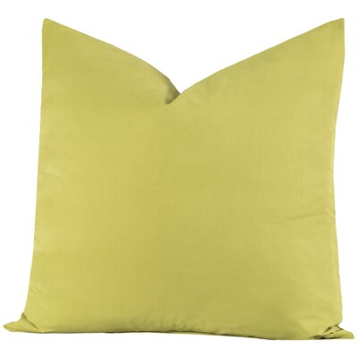 Throw Pillow Size: 26 H x 26 W x 6 D, Color: Inchworm