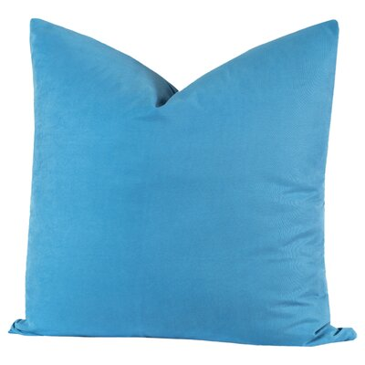 Throw Pillow Size: 26 H x 26 W x 6 D, Color: Cerulean