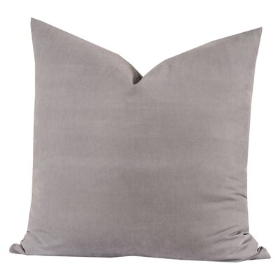 Throw Pillow Size: 26 H x 26 W x 6 D, Color: Manatee