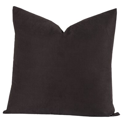 Throw Pillow Size: 26 H x 26 W x 6 D, Color: Black