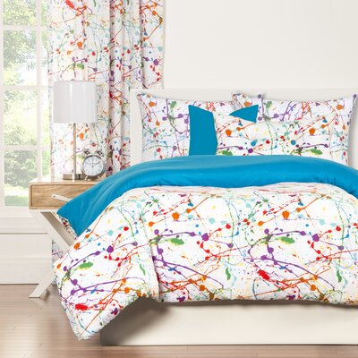 Crayola Splat Duvet Cover Set Size: King