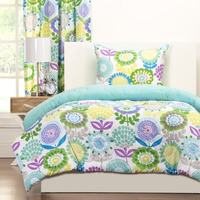 Crayola Pointillist Pansy Comforter Set Size: Twin