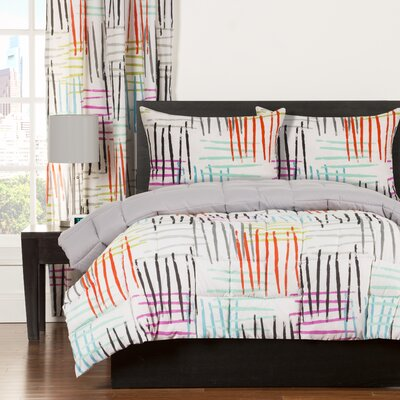 Crayola Stroke of Genius Comforter Set Size: Full/Queen
