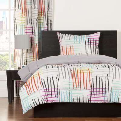 Crayola Stroke of Genius Comforter Set Size: Twin