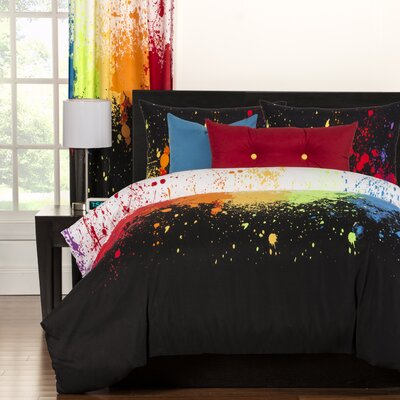 Crayola Cosmic Burst Duvet Cover Set Size: Twin