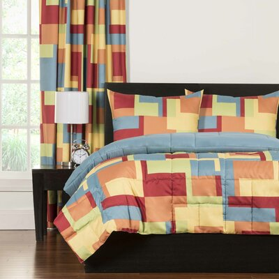 Crayola Paint Box Comforter Set Size: Full/Queen