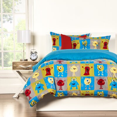 Crayola Monster Friends Duvet Cover Set Size: King