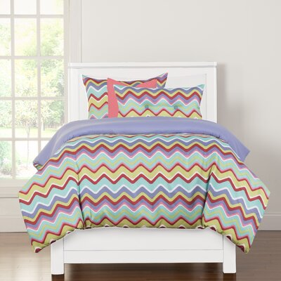 Crayola Mixed Palette Duvet Cover Set Size: Twin