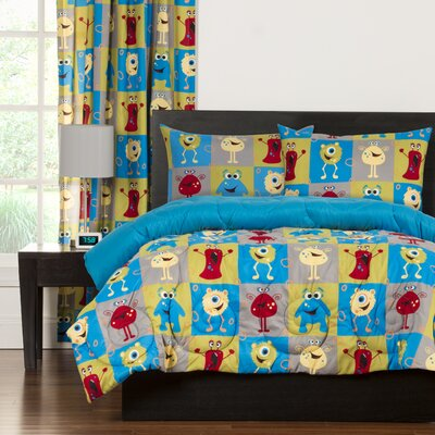 Crayola Monster Friends Comforter Set Size: Full/Queen