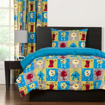 Crayola Monster Friends Comforter Set Size: Twin