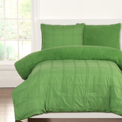Crayola Dream Comforter Set Size: Twin, Color: Jungle Green