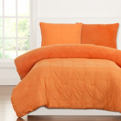 Crayola Dream Comforter Set Size: Twin, Color: Outrageous Orange