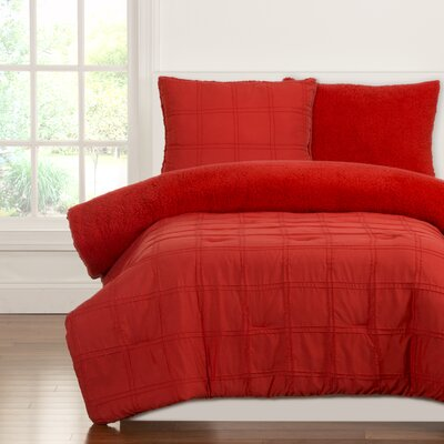 Crayola Dream Comforter Set Size: Twin, Color: Scarlet
