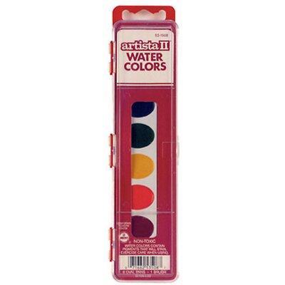 Artista Ii 8 Water Colors W/brush (Set of 3) BIN1508