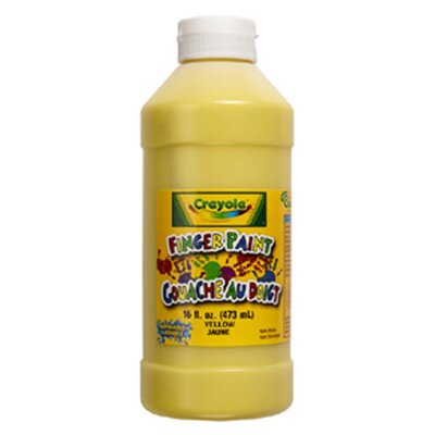 Washable Finger Paint 16oz Yellow BIN131634