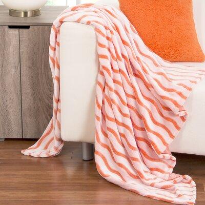 Fuzzy Throws Color: Orange