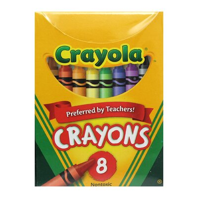 Crayola Regular Size 8 Colours (Set of 6) BIN8