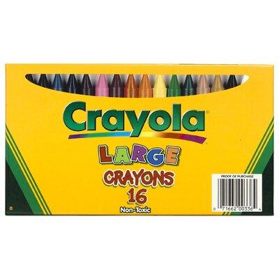 Crayola Large Size Crayon 16pk (Set of 2) BIN336
