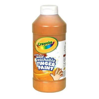 Washable Finger Paint 16oz Orange BIN131636