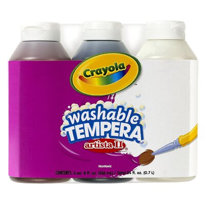 Tempera Paint Washable 3ct 8oz BIN543183
