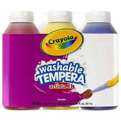 Tempera Paint Washable 3ct 8oz BIN543181