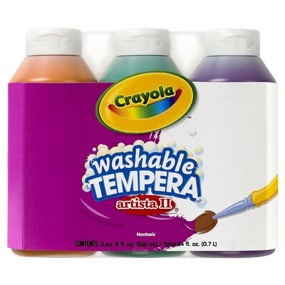 Tempera Paint Washable 3ct 8oz BIN543182
