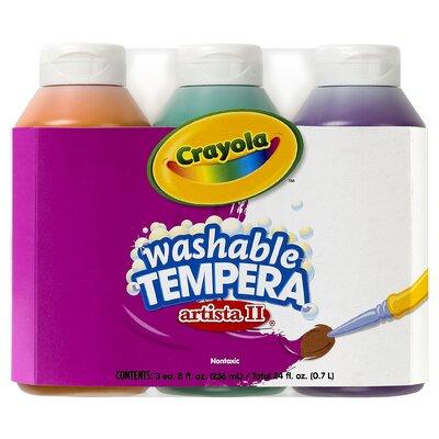 Tempera Paint Washable 3ct 8oz BIN543182