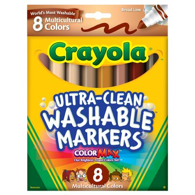 Washable Multi-Cultural Markers (8 Pack) (Set of 2) 58-7801