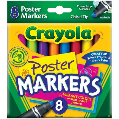 Washable Poster Markers (8 Pack) 58-8173