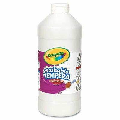 Crayola Artista II Washable Tempera Paint, White, 32 oz CYO543132053