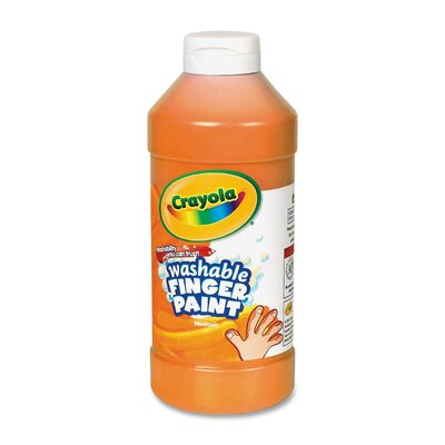 Washable Finger Paint Color: Orange CYO551316036