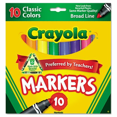Non Washable Markers (10 Pack) (Set of 2) CYO587722