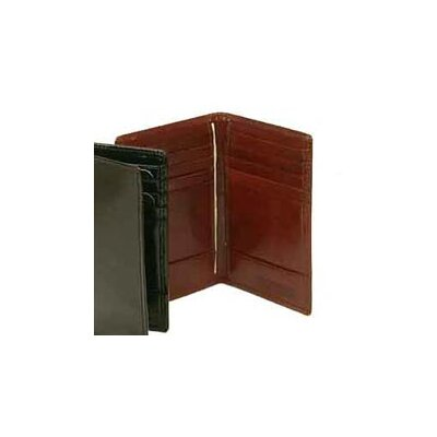 Bond Street Ltd Hand Stained Italian Leather Business Card Caddy Wallet - Color: Wine at Sears.com