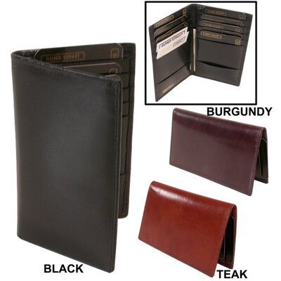 Bond Street Ltd Cordoba Leather Card Caddy Wallet - Color: Burgundy at Sears.com