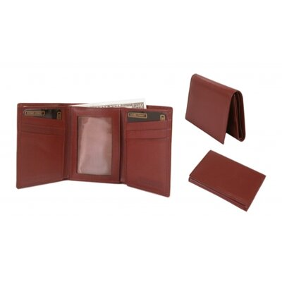 Bond Street Ltd Calf Leather Reflections Trifold Wallet - Color: Brown at Sears.com