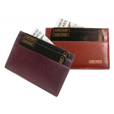 Bond Street Ltd Cordoba Leather Card Case - Color: Burgundy at Sears.com