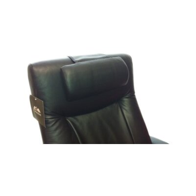 Top Grain Leather Cervical Pillow Color: Black