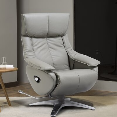 Kagan Manual Recliner Upholstery: Grey
