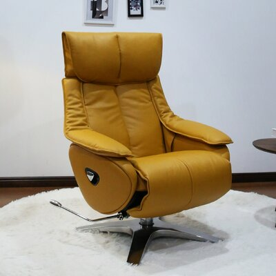 Kagan Manual Recliner Upholstery: Yellow