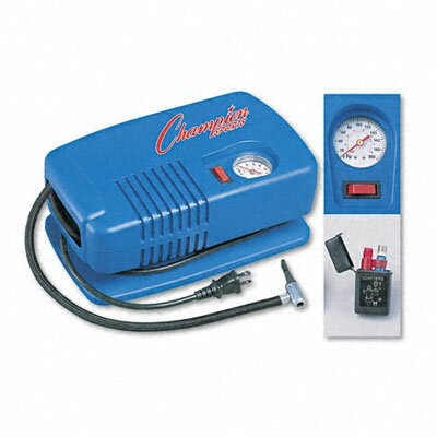 Image of CHAMPION SPORT Electric Inflating Pump with Gauge, Hose & Needle, 1/4 HP Compressor (CSIEP1500)