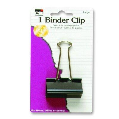 Binder Clips, Large, 2, 3/PK, Black/Steel (Set of 5)