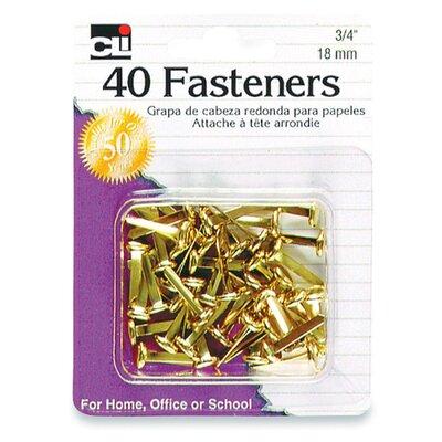 Fasteners, Round head, 3/4, 40 per Box, Brass (Set of 6)