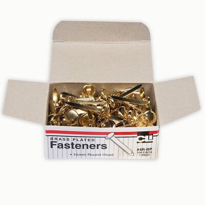 Brass Paper Fasteners 1 100/box (Set of 4)